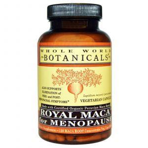Королевская мака для менопаузы, Royal Maca for Menopause, Whole World Botanicals, 500 мг, 120 капсул